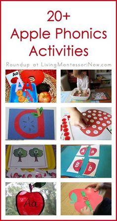 Montessori Monday - 20+ Apple Phonics Activities