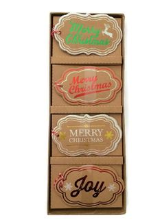 12 pc Craft, Foil, Glitter Merry Christmas Gift Tag Set, 3 each of 4 designs ** Awesome product. Click the image : Christmas Gifts