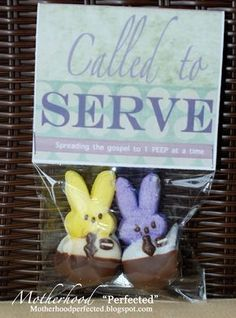Missionary peeps these are adorable never make it in the motherhood perfected easter gifts for your missionary negle Gallery