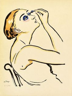 View Le Rimmel (Femme se Maquillant) (Juffermans By Kees Van Dongen; Lithograph and pochoir in colours; Access more artwork lots and estimated & realized auction prices on MutualArt. Henri Matisse, Monte Carlo, Art Fauvisme, Blog Art, Dutch Painters, Impressionist Art, Dutch Artists, Illustrations, Woman Painting