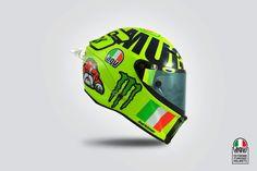 Valentino Rossi Mugello AGV Helmet Photos