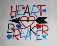 Heart Breaker cute one piece for baby for by KreativeImpressions1, $21.00