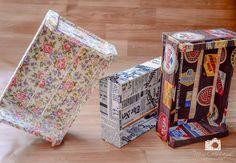 Reciclagem de caixotes de feira