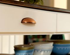 Copper Pull, Cup Pull, Cabinet Pull, Copper Kettle Pull Great for Rustic & Farmhouse Kitchens, Drawer Pulls $7.00
