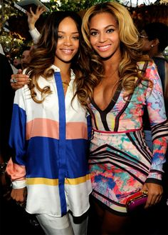 Rihanna and Beyonce #GRAMMYs2013 ...