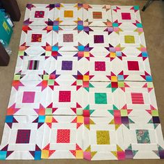 """41 Likes, 3 Comments - Gina Tell - Carpe Quiltin' (@gina_tell_carpequiltin) on Instagram: """"My blocks are all done, gotta sew them together and I think I'm also gonna add a small boarder.…"""""""
