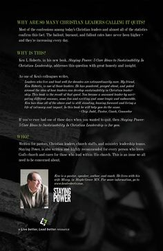 """Ken Roberts' Book """"Staying Power"""" back cover. ORDER HERE --->  http://kenlroberts.com/?page_id=622"""