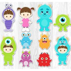 Monster Centerpiece, Monster Inc Centerpiece, Monster Cake Topper, Monsters Inc Decoration, Monster Wall Decor Monster Inc Party, Monster Inc Birthday, Monsters Inc Cake, Monsters Ink, Monsters Inc Characters, Party Monsters, Monsters Inc Centerpieces, Monsters Inc Decorations, Superhero Cupcake Toppers