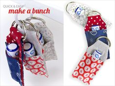 ScrapBusters: Lip Balm Key Ring Mini Case. Tutorial, diy. Sew4Home. I like the concept, but maybe a slimmer case?