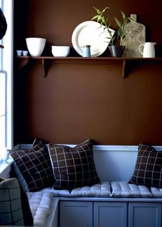 Интерьер с оттенком шоколада: шоколадно-коричневый цвет стен