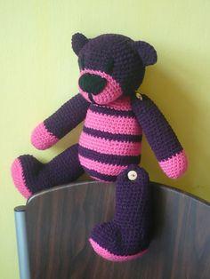 Häkeln Teddy Bär Violet von Crochetland auf DaWanda.com