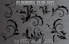 Flourish Clipart - VectorLady.com