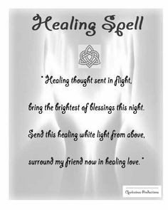 Prayers For Healing: Healing Spell Healing Spells, Magick Spells, Summoning Spells, Luck Spells, Healing Prayer, Wiccan Witch, Energie Positive, Protection Spells, Witch Spell