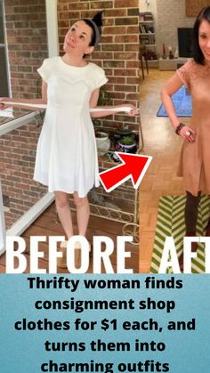 #Thrifty woman finds #consignment shop clothes for $1 each, and #turns them into #charming #outfits