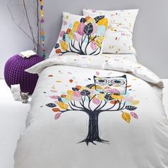 1000 images about linge de lit enfants on pinterest for Parure de lit hibou