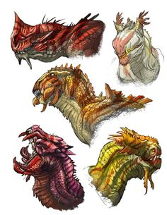 Dragon-heads by Onikaizer on DeviantArt