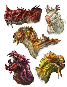 Dragon-heads by Onikaizer on DeviantArt