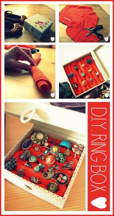 Make yourself a gorgeous ring box to store your accessories right :) #DIY