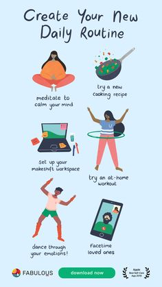 Create a work from home routine with Fabulous! Self Care Bullet Journal, Budget Planer, Motivational Quotes For Working Out, Quotes Positive, Self Care Activities, Good Habits, Self Improvement Tips, Self Care Routine, Daily Motivation