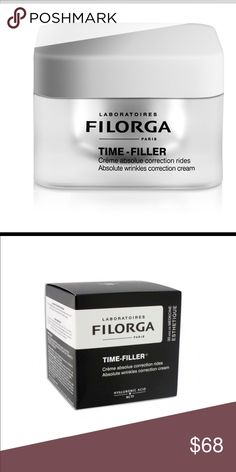 Filorga Paris Time-Filler Absolute Wrinkle Cream The latest medical techniques bring you younger- and wider-looking eyes.Peptides fight the appearance of wrinkles, smooth out expression lines and even skin tone.A lifting complex combats the sagging upper eyelids. Proteins boost lash volume Plumping spheres and a plant-based complex combat under-eye hollows and dark circles Filorga Paris Makeup