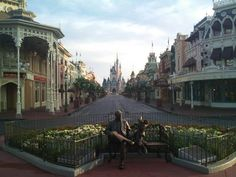Main Street USA just before the park opens.