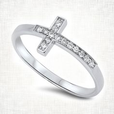Sterling Silver Cross Ring | Six Shooter Gifts