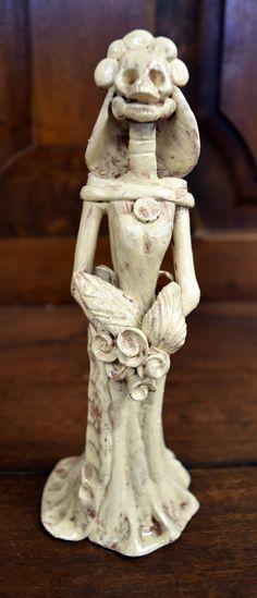 Mexican Day of the Dead Catrina Handmade by VivaLaVidaLosAngeles Hacienda Decor, Clay Figurine, Day Of The Dead, Mexican, Statue, Handmade, Etsy, Art, Day Of Dead