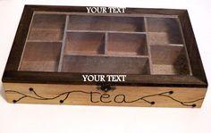 Caja de Té de Madera Organizador Bolsita de Té por Tutorialpaper