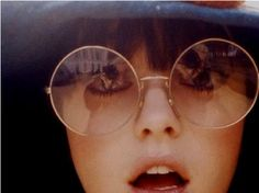 glasses  girl  hippie  retro  reflection  photography