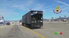 Vigili del Fuoco - Olbia (SS) - Incendio camion nella stiva del traghett...