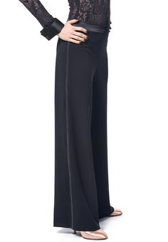 RS Atelier Olga Edge Satin Trousers | Dancesport Fashion @ DanceShopper.com