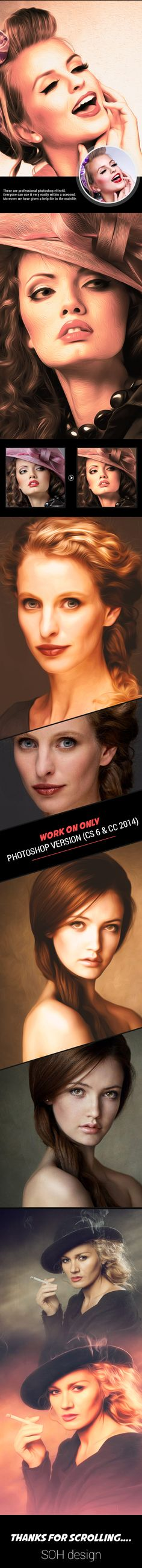 3 #Photoshop #Actions - Photo Effects Actions Download here: https://graphicriver.net/item/3-photoshop-actions/19591832?ref=alena994