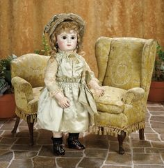 A Matter of Circumstance: 43 Very Beautiful Early French Bisque Portrait Bebe by Jumeau