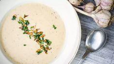 Krémová polévka zpečeného česneku - Proženy Cheeseburger Chowder, Cantaloupe, Fruit, Soups, Soup