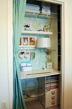 Built in desk & reading nook in a closet - great idea for a small space. Description from pinterest.com. I searched for this on bing.com/images