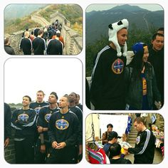 More scenes from the #Warriors trip to the Great Wall. #WarriorsInChina #NBAGlobalGames
