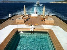 """The person who originally pinned this said """"Teak"""" as if the wood is the most awesome thing about this boat!!!"""