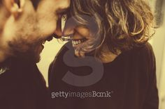 Vintage couple hugs and laughing