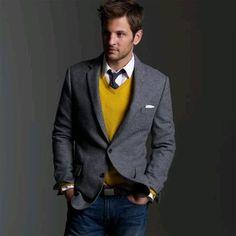 J Crew Solid Tweed Sportcoat