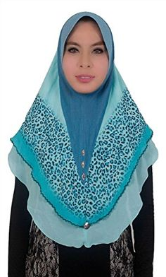 Moroccan Shoulder Shawl Breathable Oblong Head Scarf Silky Soft Exquisite Wrap Teal