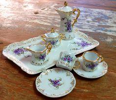 Mini conjunto chá, pintado a mão