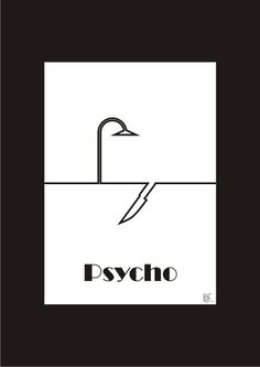 #onelinemovieposter #one_line_movie_poster #movie #movieposter #movie_poster #poster #posterart #poster_art #art #design #graphic #graphicdesign #graphic_design #psycho