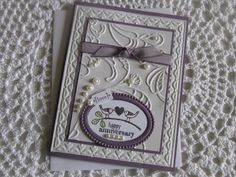 Stampin' Up Handmade Greeting Card: Anniversary on Etsy, $4.00