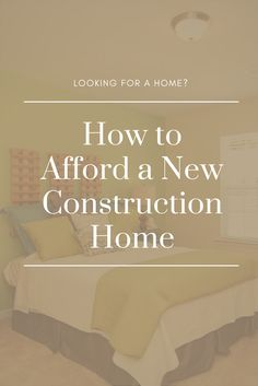 Affording a new construction home is not as expensive as you might think. Learn more about the benefits and cost of buying a new house. Home Buying Process, Buying A New Home, New Construction, New Homes, Learning, House, Design, Home, Studying