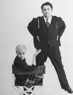 Federico Fellini y su esposa y musa, la actriz Giuletta Masina