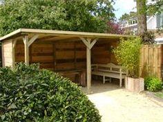 Eenvoudig tuinhuisje om zelf te maken.