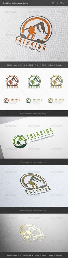 Hmmmmm...i think theres something here but not sure. Trekking Adventure Logo