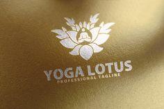 Yoga Lotus Logo by Creative Dezing on @creativemarket