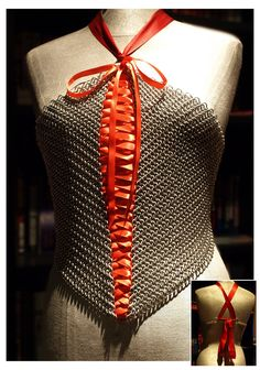 Ribbon Maille Corset by queenofdragons