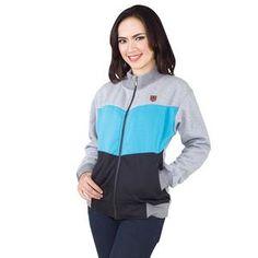 Jaket Wanita Casual Warna Abukom Bahan Fleece [SLC 480] (Brand Inficlo) Produk Indonesia
